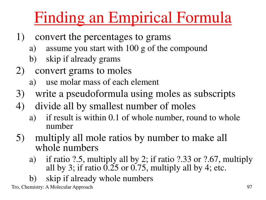 Finding an Empirical Formula