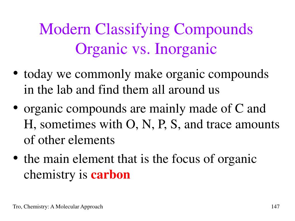 Modern Classifying Compounds