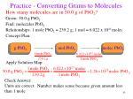 practice converting grams to molecules83