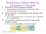 writing names of binary molecular compounds of 2 nonmetals