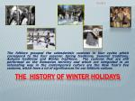 the history of winter holidays