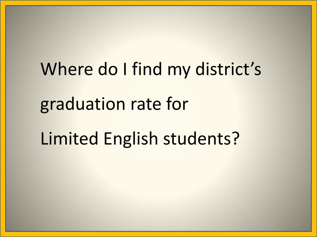 Where do I find my district's graduation rate for