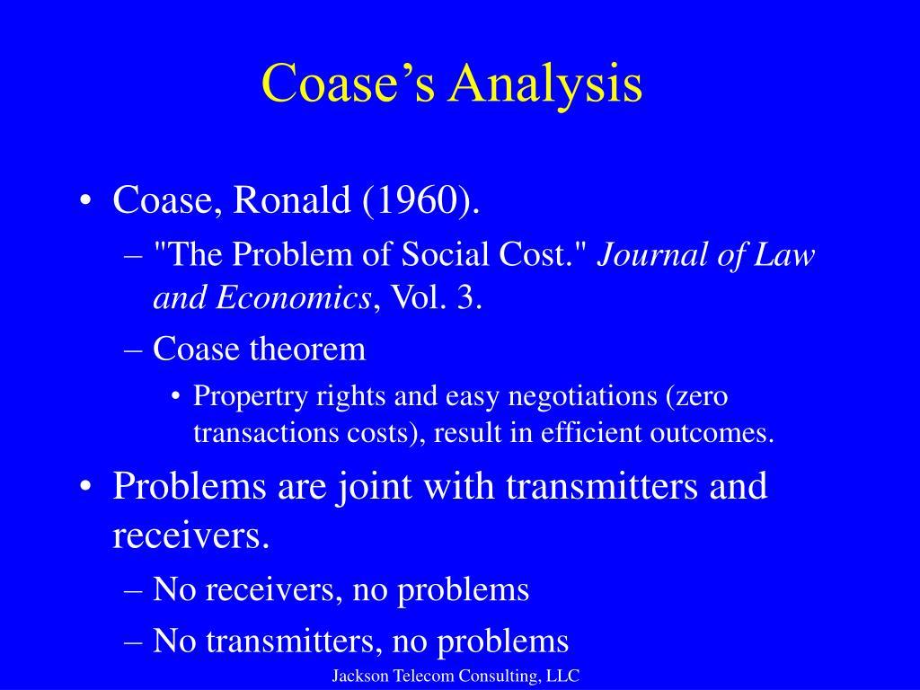Coase's Analysis