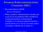 european radiocommunications committee erc