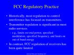 fcc regulatory practice