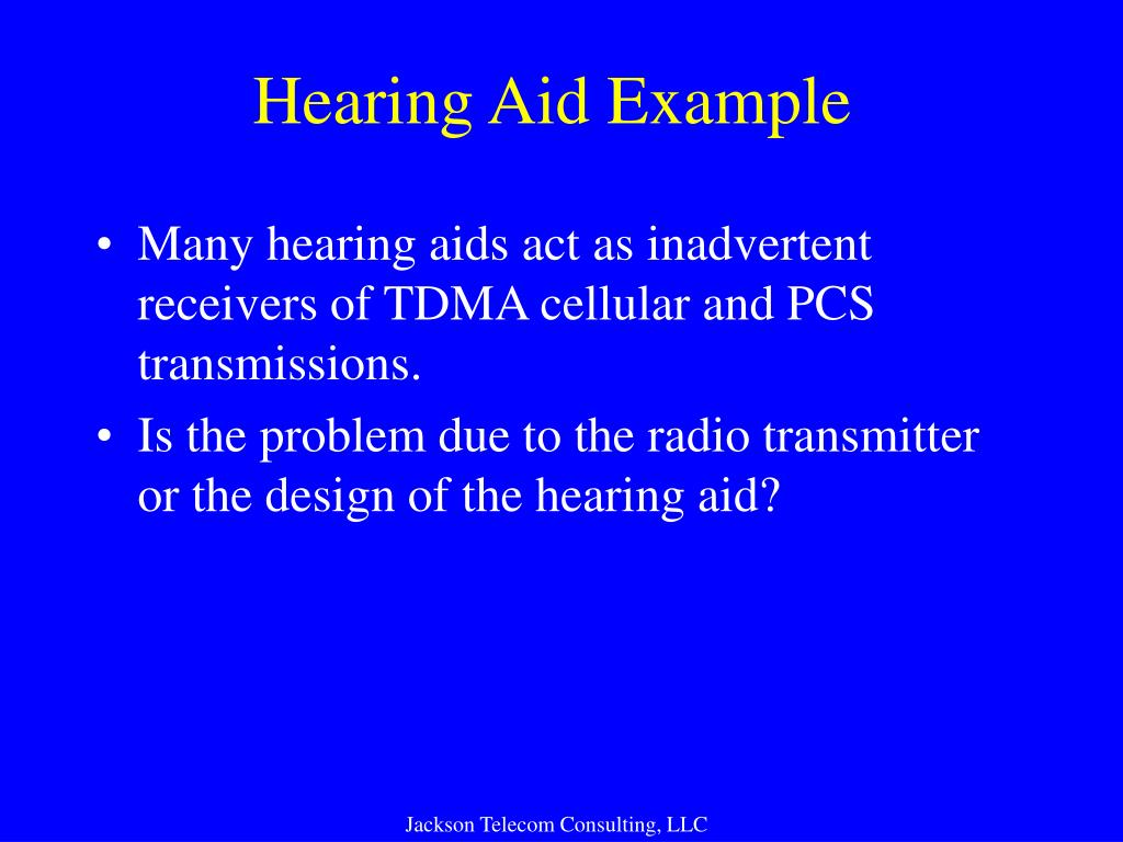 Hearing Aid Example