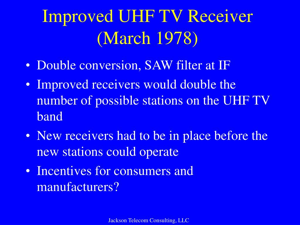 Improved UHF TV Receiver (March 1978)