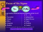 focus of six sigma