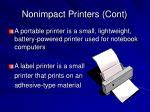 nonimpact printers cont15