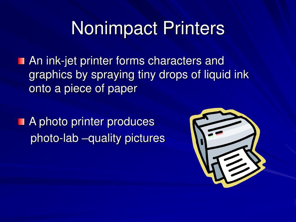 Nonimpact Printers