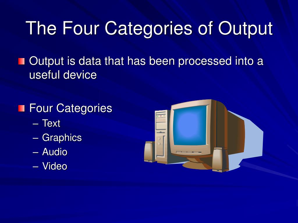 The Four Categories of Output