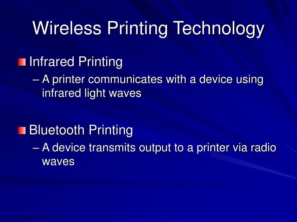 Wireless Printing Technology