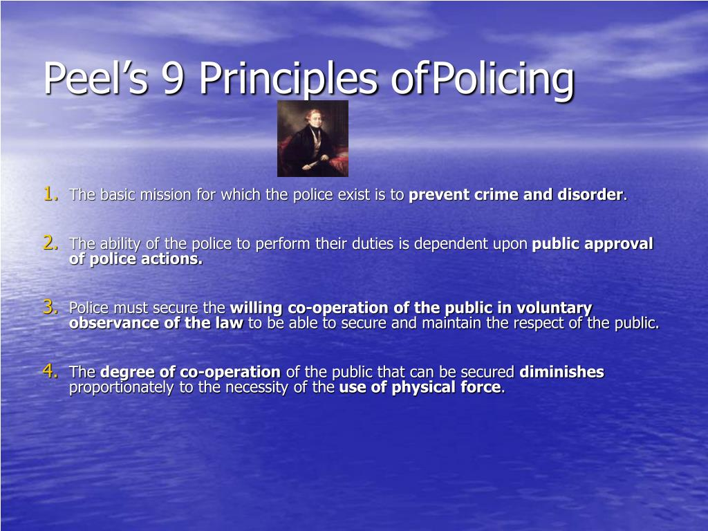 Peel's 9 Principles of