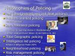 philosophies of policing