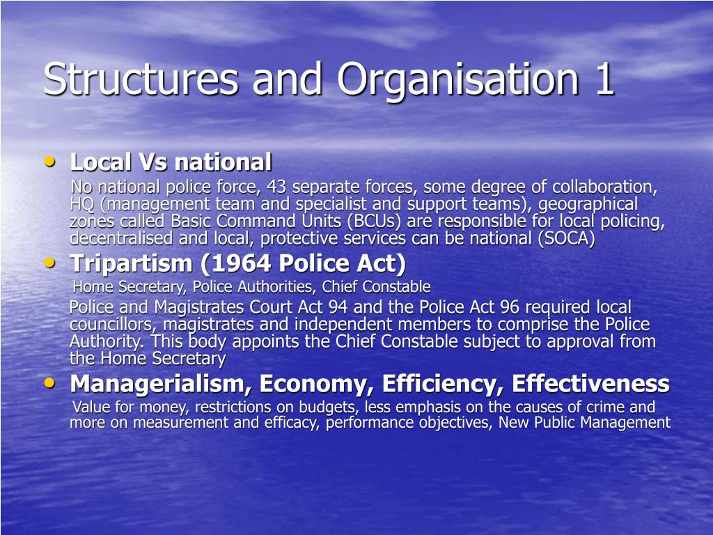 Structures and Organisation 1