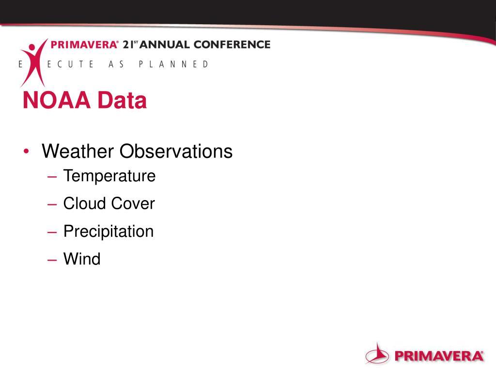 NOAA Data