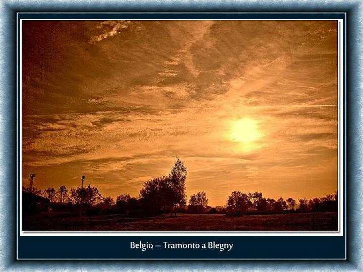 Belgio – Tramonto a Blegny