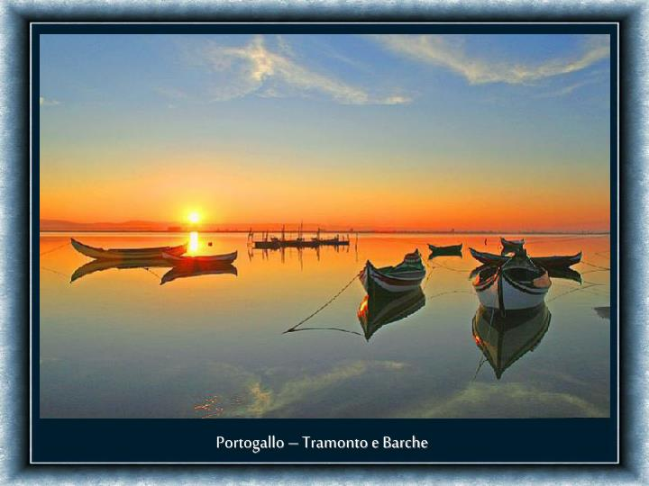 Portogallo – Tramonto e Barche
