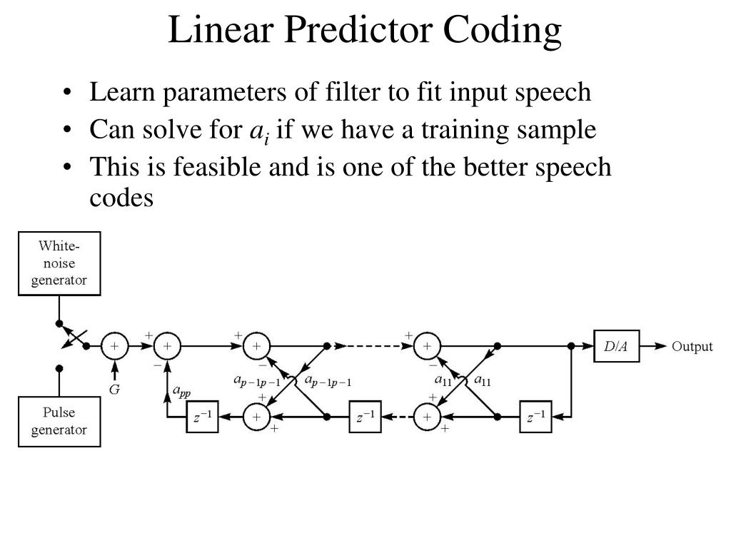 Linear Predictor Coding