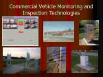 commercial vehicle monitoring and inspection technologies