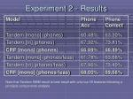 experiment 2 results