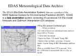 edas meteorological data archive