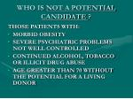 who is not a potential candidate2