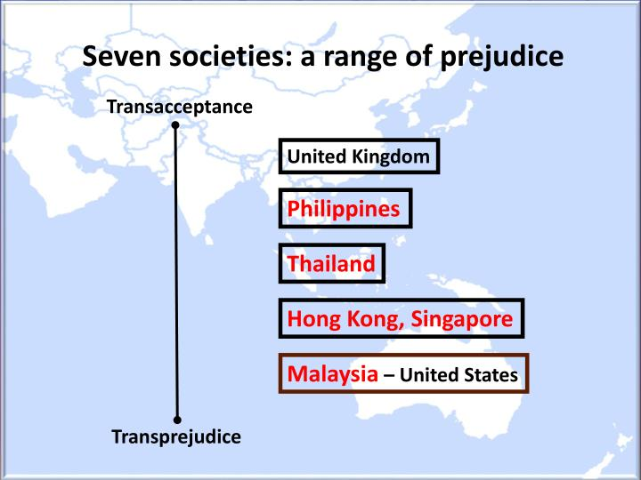 Seven societies: a range of prejudice