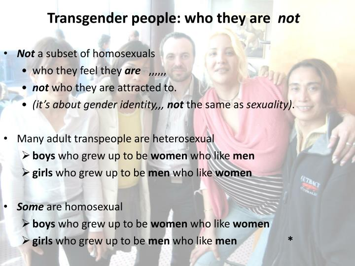 Transgender people: who they are