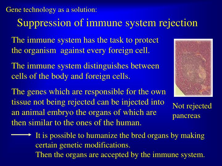 Gene technology as a solution: