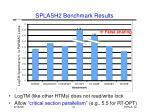 splash2 benchmark results