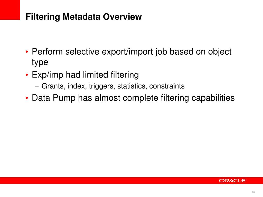 Filtering Metadata Overview