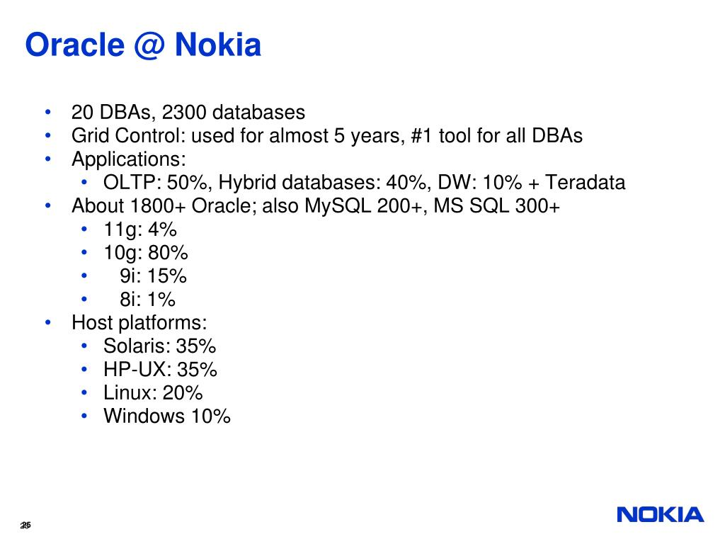 Oracle @ Nokia