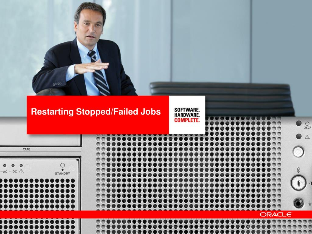Restarting Stopped/Failed Jobs