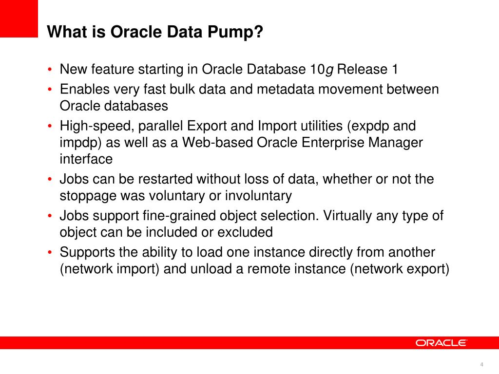 What is Oracle Data Pump?