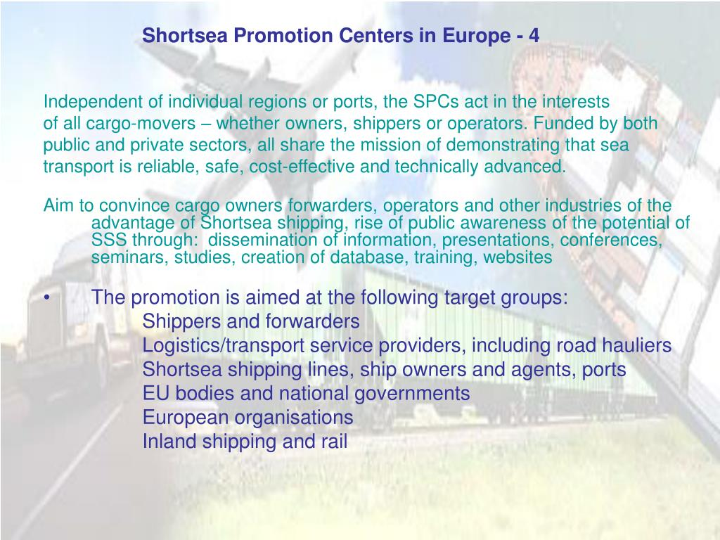 Shortsea Promotion Centers in Europe - 4