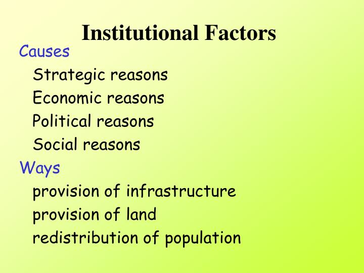 Institutional Factors