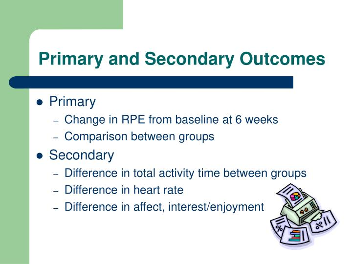 Primary and Secondary Outcomes
