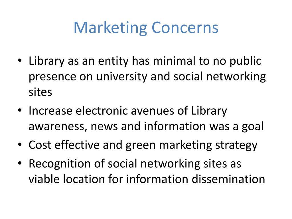 Marketing Concerns