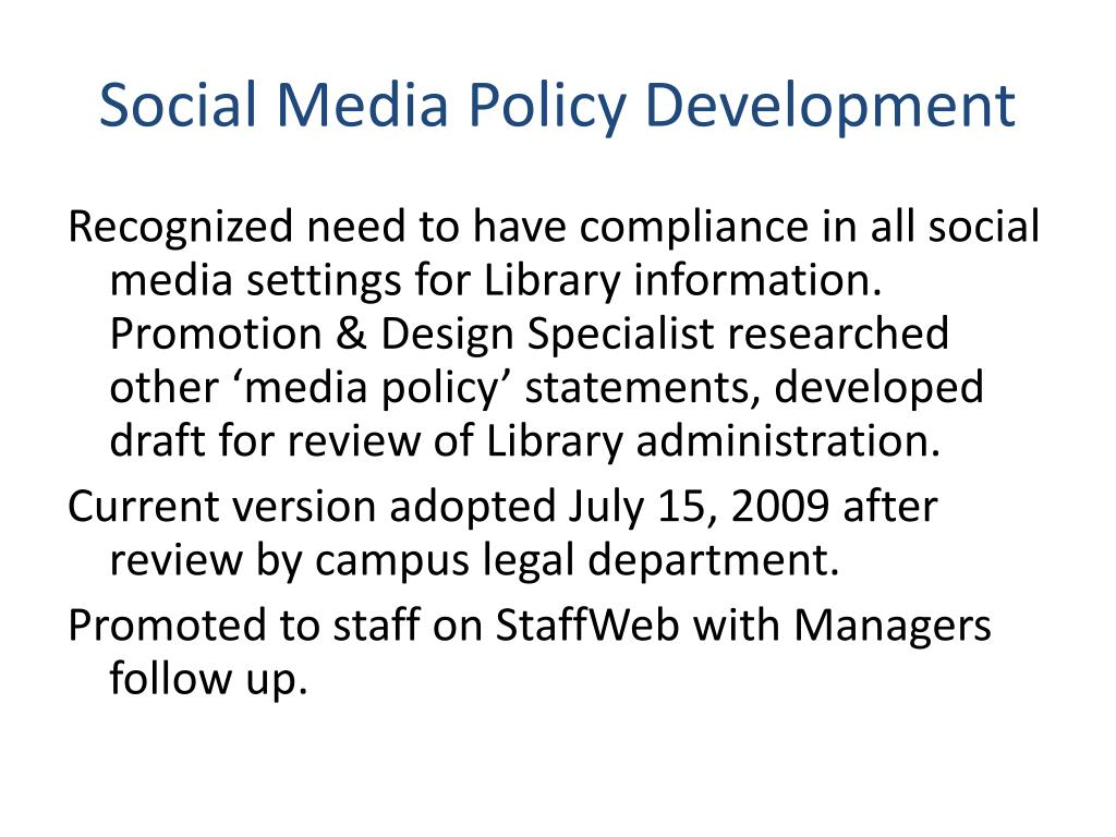 Social Media Policy Development
