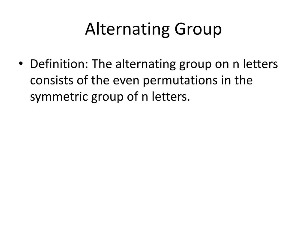Alternating Group