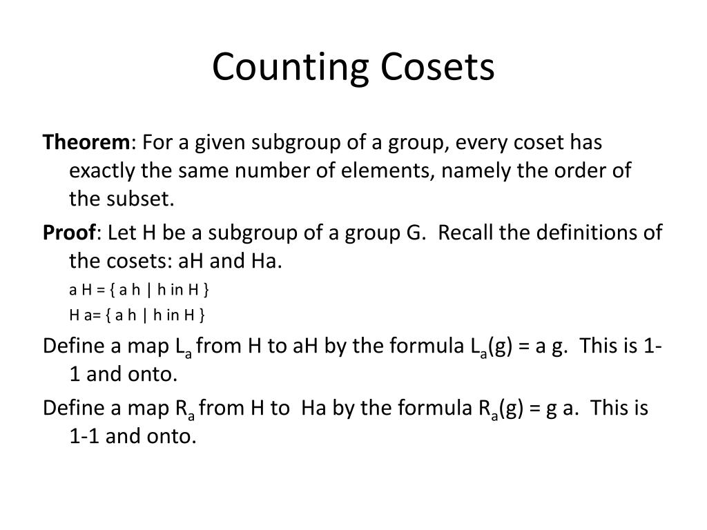 Counting Cosets