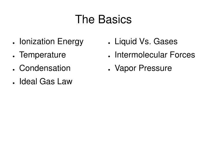 Liquid Vs. Gases
