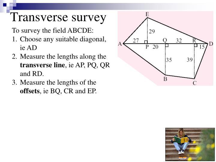 Transverse survey