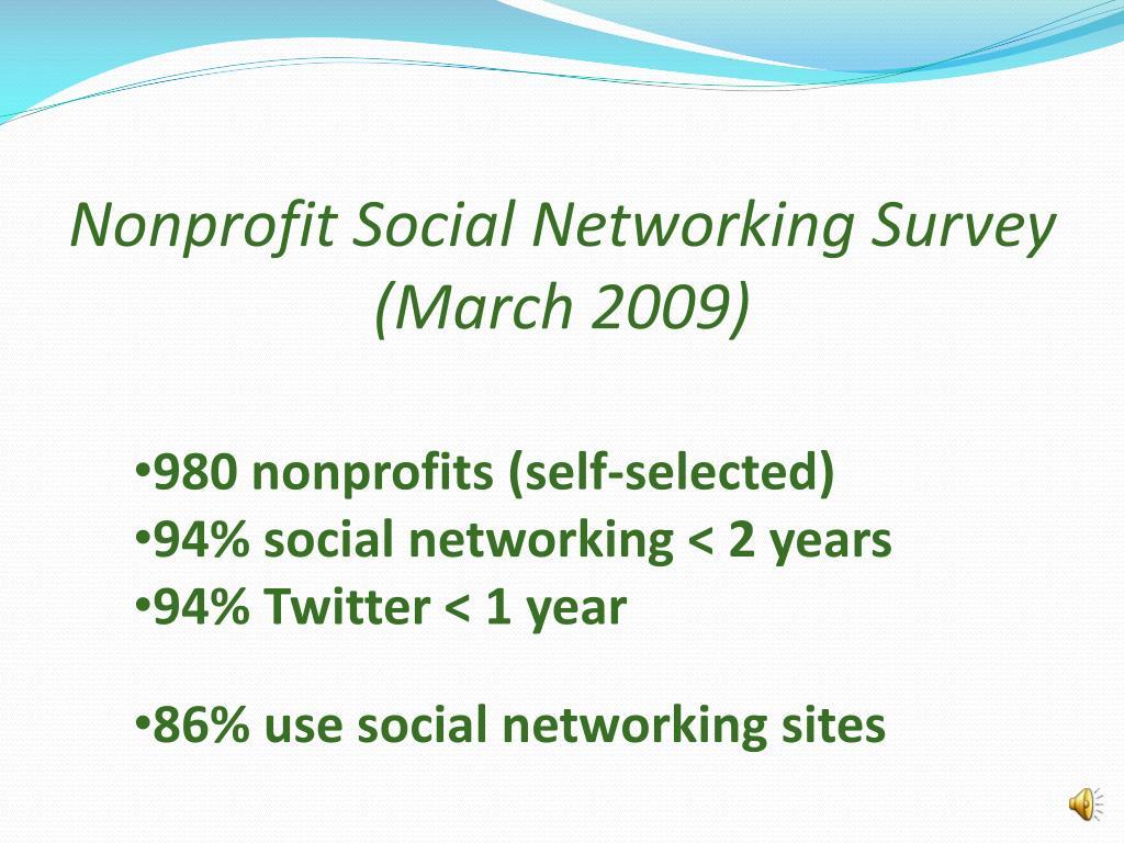 Nonprofit Social Networking Survey