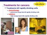 treatments for cancers