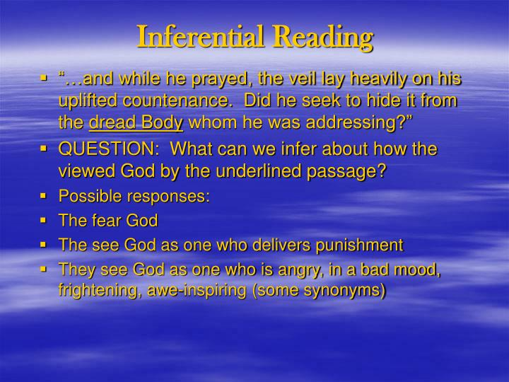 Inferential reading