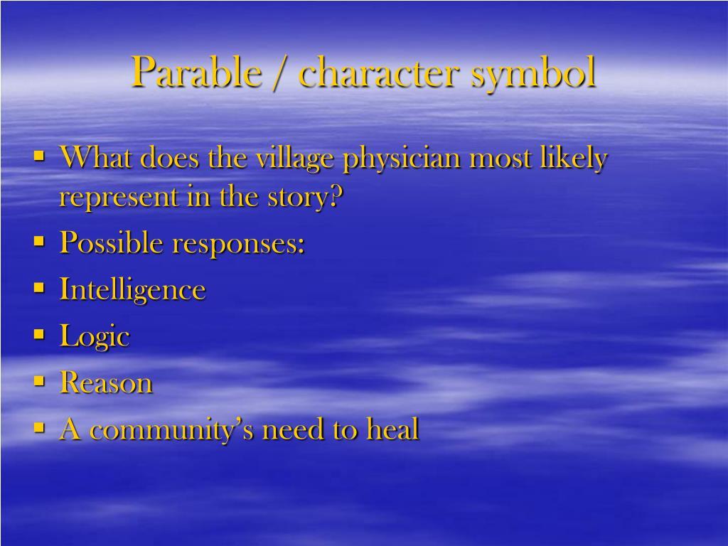Parable / character symbol