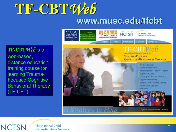 cbt tf focused trauma tfcbt cognitive training behavioral learn based presentation powerpoint therapy ppt web learning distance course education want