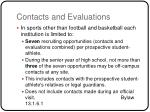 contacts and evaluations2